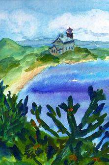 North Light-from afar watercolor